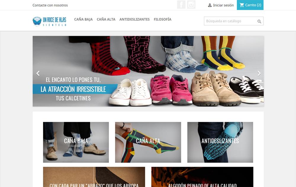 Un Roce de Alas, tienda online de calcetines