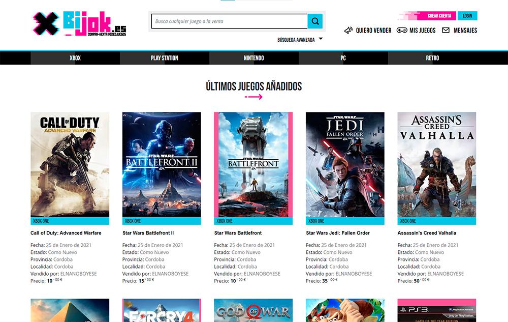 Bijok - Compra venta de videojuegos de segunda mano